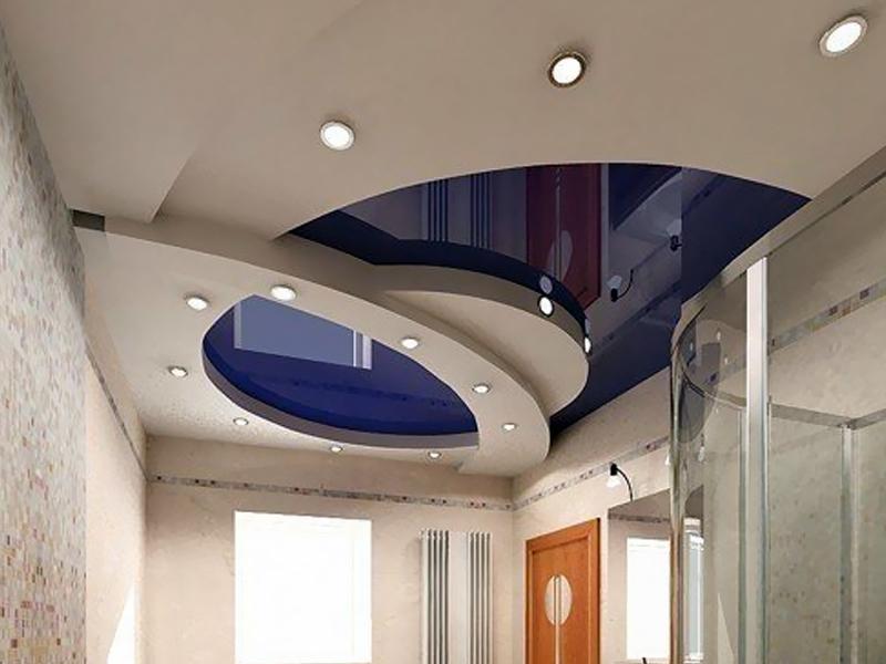 Навесной потолок своими руками в зал в фото