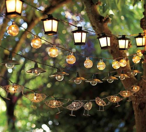 освещение сада своими руками