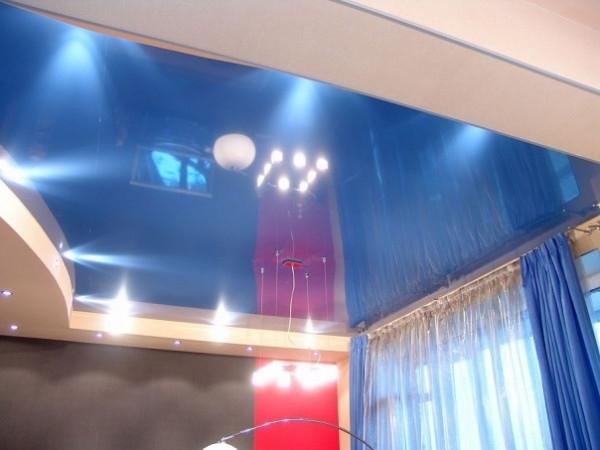 натяжной зеркальный потолок своими руками