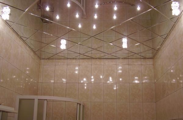 Зеркальный потолок своими руками