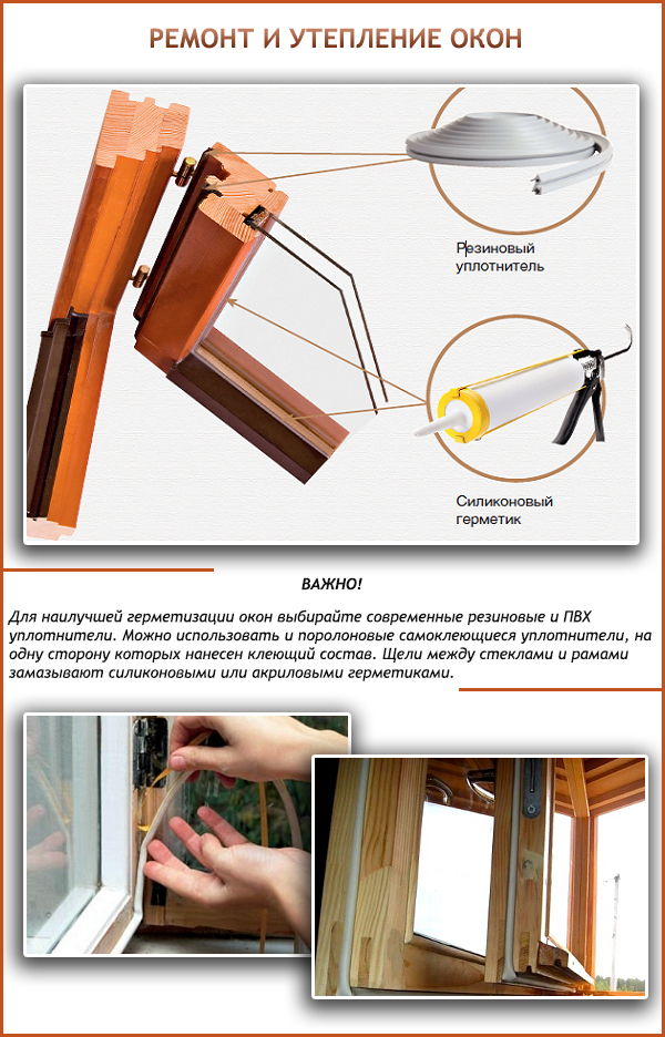Ремонт деревянных окон со стеклопакетом своими руками 38