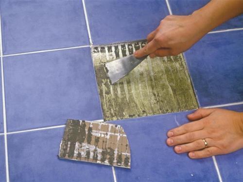 Замена керамической плитки