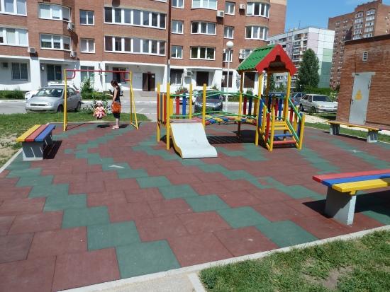Резиновая плитка детская площадка