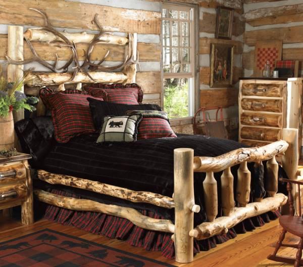 дом в русском стиле-спальня