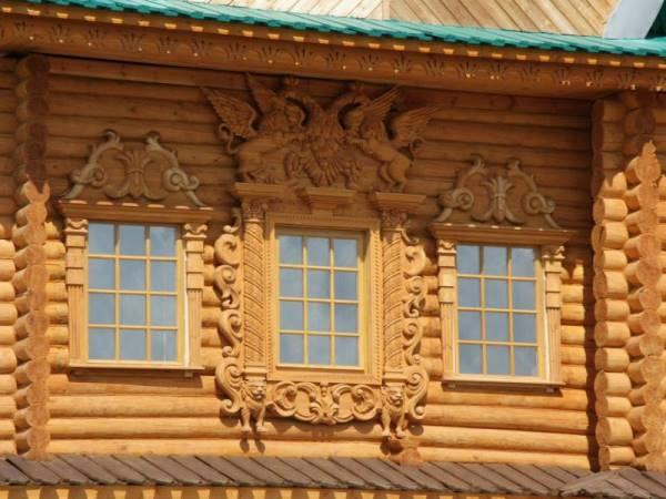 дом в русском стиле-фасад