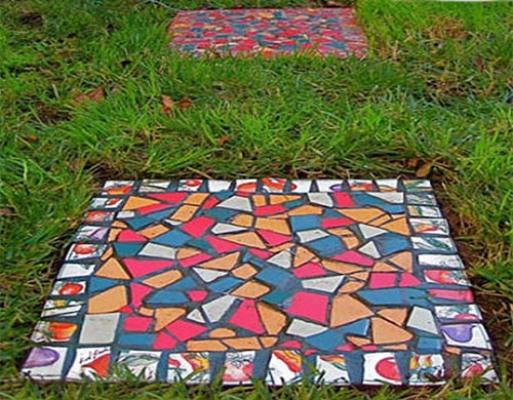 Плитка из бетона для дорожек